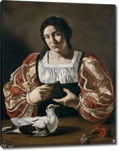 Бонери Франческо (Чекко дель Караваджо). Женщина с голубем