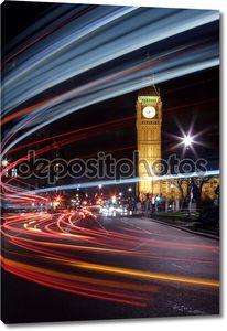 Большой трафик в Лондоне на Биг-Бен