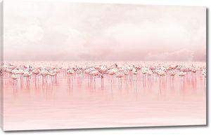Фламинговое море