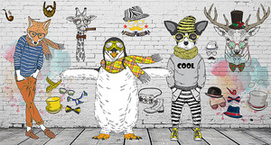 Животные в подростковых одеждах