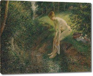 Камиль Писсарро. Купальщица в лесу