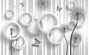 Колючие одуванчики с кругами