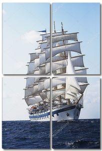 машинки корабль в море