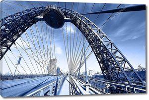 Мост подвесной в Москве