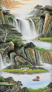 Река из водопадов