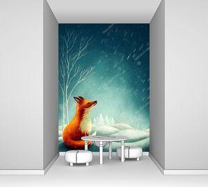 Рыжая лиса зимой