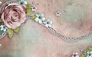 Бутон розы с кружевом