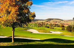 На гольф-поле в Праге