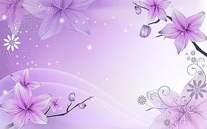 Сиреневые лилии