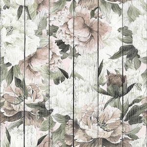Цветочный фон с белыми пионами