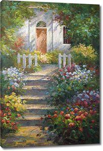 Дорога из цветочного сада к дому
