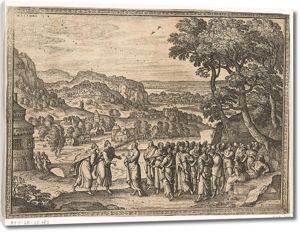 Питер ван дер Борхт. Христос отвечает ученикам Иоанна Крестителя