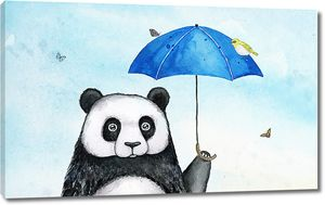 Панда под зонтиком