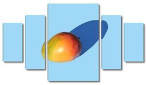 Половинка манго с тенью