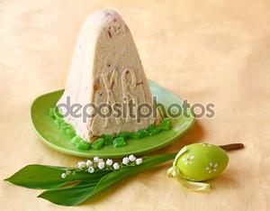 Пашка - кварк десерт на Пасху и пасхальное яйцо