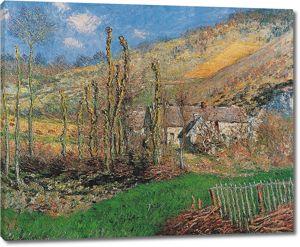 Моне Клод. Зимний пейзаж в долине Валь-де-Фалез, 1885
