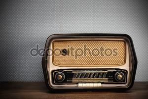 Античный радио на фоне Винтаж