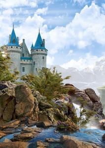 Замок на скалах