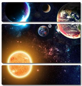 Раскаленная звезда и планеты
