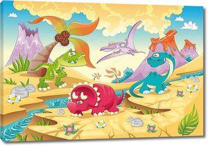 Семья динозавриков