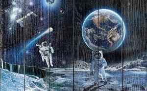 Космонавты на планете