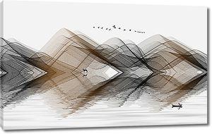 Холмы графическими линиями