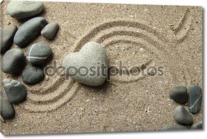 Дзен камень в форме сердца
