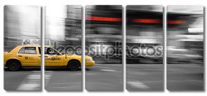 Нью-Йорк такси в движении