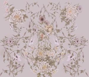 Рисунок из переплетающихся цветов