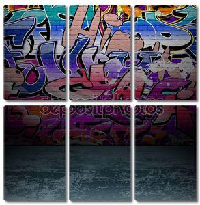 Уличное граффити на стене