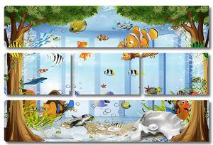 Рыбки в бассейне
