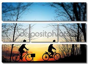 Велопоход на закате