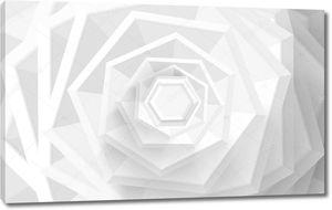 3d монохромная иллюстрация, абстрактная геометрическая роза шестиугольников