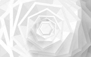 Монохромная шестиугольная спираль