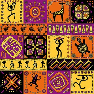 Яркий африканский орнамент