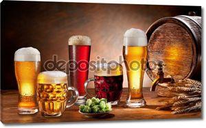Пивная бочка и проект пиво на розлив.