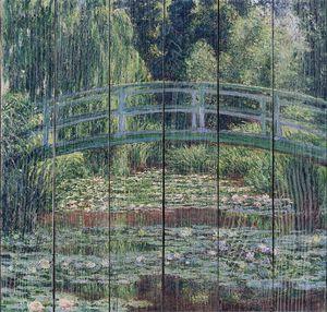 Клод Моне. Японский мостик и пруд с водяными лилиями, Живерни