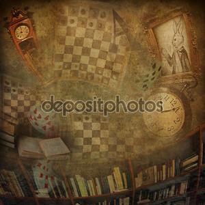 Абстрактный фон романа Алиса в стране чудес