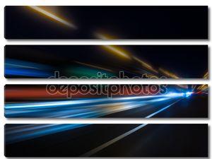 Высокоскоростной движение в ночное время