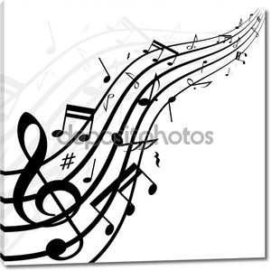 музыка отмечает фон