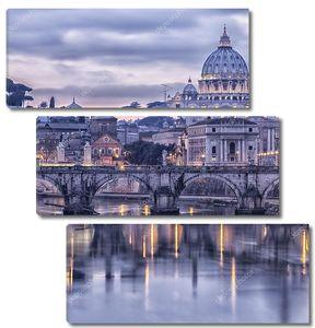 Рим и Тибр в сумерках