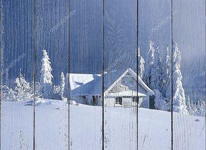 Коттедж в зимний период