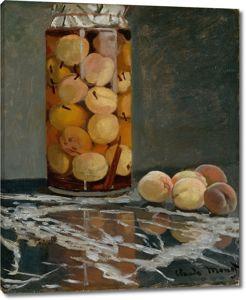 Моне Клод. Банка с персиками, 1866