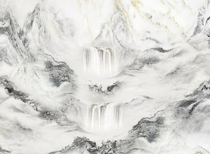 Водопад по мраморной фактуре