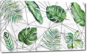 Орнамент из пальмовых листьев