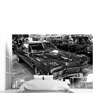 персональный роскошный автомобиль buick Ривьера, третьего поколения, (черно-белая)