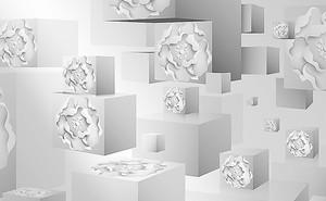 Кубы с рисунком из роз