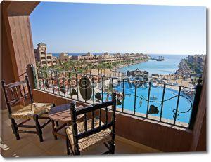 Вид на море из балкона номера отеля