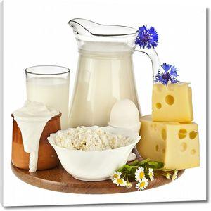 Вкусные молочные продукты и яйцо