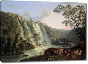 Джейкоб Филипп Хаккерт. Вилла Мецената и водопады в Тиволи